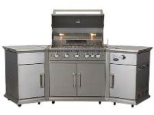 The Bahama 5 burner Gas BBQ With Rotisserie Burner