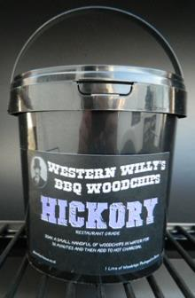 1 Litre Western Willy's Hickory Wood Chips