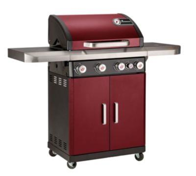 Landmann Rexon 4 Burner Gas BBQ In Bordeaux Red