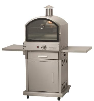 Lifestyle Milano Stainless Steel Deluxe Gas Pizza Oven and BBQ