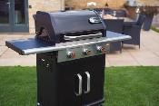 Landmann Triton 3 Burner Gas BBQ With Cabinet In Black