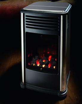 Manhattan, Sleek and Fashionably Chic, Portable Living Flame Heater