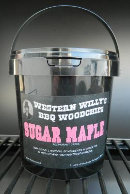 1 Litre Western Willy's Sugar Maple Wood Chips