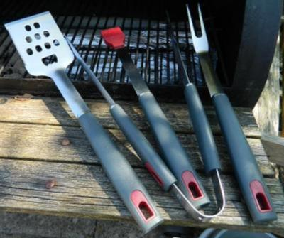 Barbecue Genius 4 Piece BBQ Tool Set