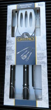 Grill Pro 3 Piece Heavy Gauge Stainless Steel Tool Set