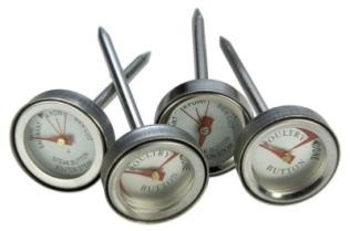 Grill Pro 4 Piece Individual Mini Meat Thermometer
