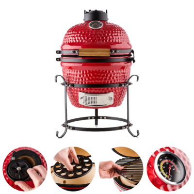 Mini Kamado Smoker BBQ Blue