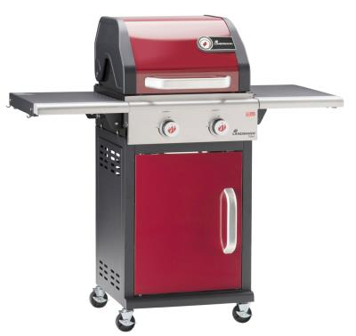 Landmann Triton 2 Burner Gas Barbecue Bordeaux Red