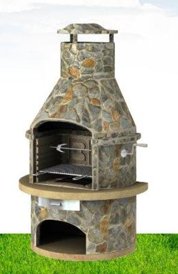 Rondo Light Slate Masonry BBQ