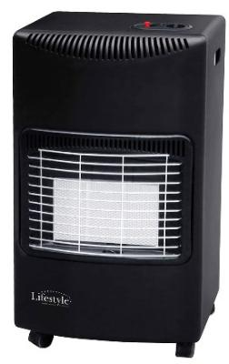 Lifestyle Seasons Warmth Charcoal Black Cabinet Heater