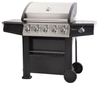 Lifestyle Dominica 5 Burner Gas BBQ With Side Burner