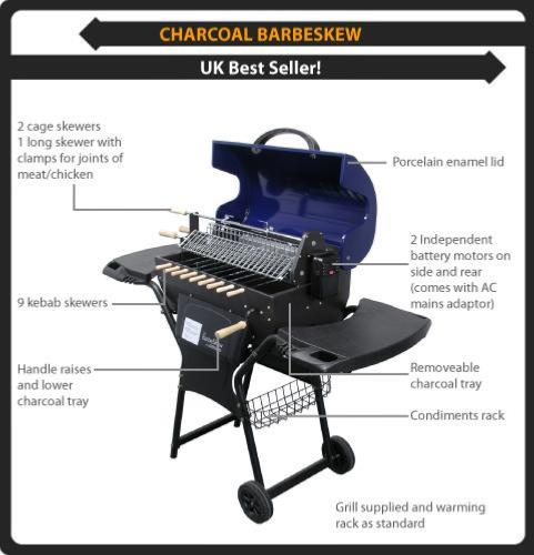 Large Charcoal Rotisserie BBQ