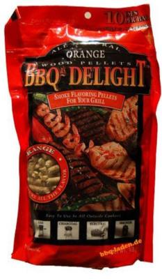 BBQr's Delight 1Lb Bag of Orange Barbecue Wood Pellets