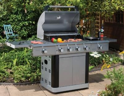 Gas BBQ  Lifestyle St Lucia Stainless Steel 4 Burner With Rotisserie