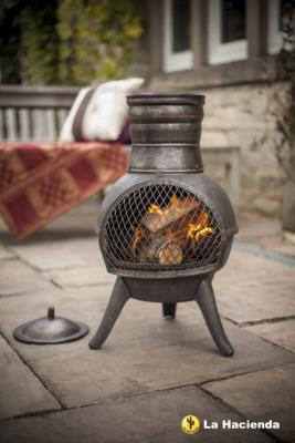 Squat Steel and Cast Iron Chimenea