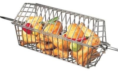 Small Grill Pro Rotisserie Black Non Stick Tumble Basket