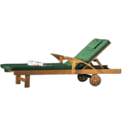 Lifestyle Acacia hardwood Sunlounger with Cushion.