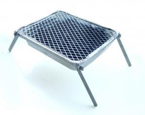 Asado Camper Folding Stand For Instant Disposable BBQ's