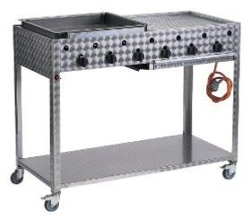Large Stainless Steel Catering Gas BBQ
