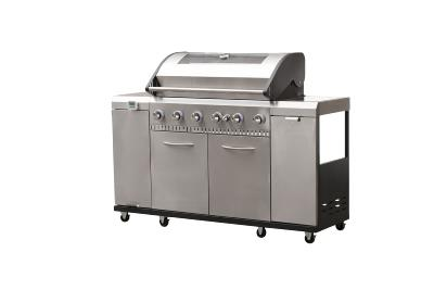 Grill Chef Premium 6 Burner Gas BBQ