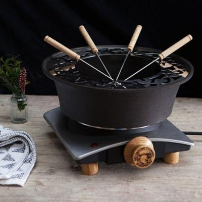 Netherton Foundry Spun Black Iron Fondue Set