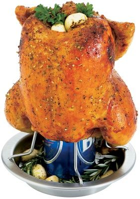 Stainless Steel Beer Can Chicken Roaster