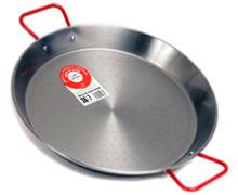 34cm Polished Steel Paella Pan