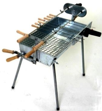 How to Use a Greek Style Charcoal Rotisserie BBQ