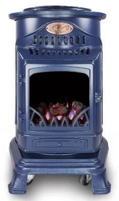 Provence Living Flame Flueless Stove In Blue