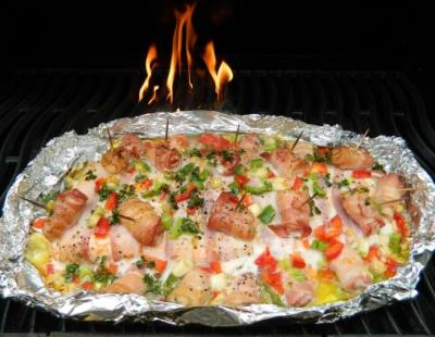 How to BBQ Side of Salmon With Bacon Recipe