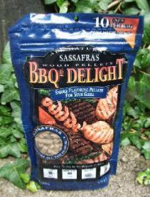 BBQr's Delight 1Lb Bag of Sassafras Barbecue Wood Pellets