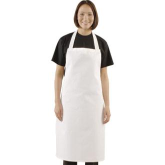 White Cotton Bib Apron