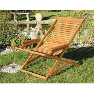 Pair of Lifestyle Sun Chairs Acacia Hardwood