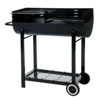 Lifestyle Half Barrel Oil Drum BBQ