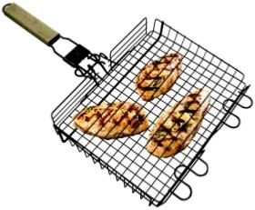 Barbecue Genius Stainless Steel BBQ Grill Basket.